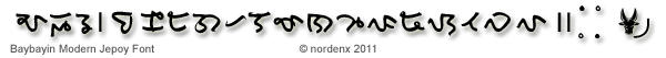 Baybayin Modern Jepoy Font