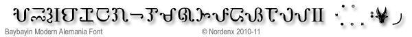 Baybayin Modern Alemania Font
