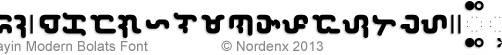 Baybayin Modern Bolats Font by Nordenx