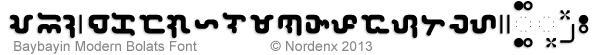 Baybayin Modern Bolats Font