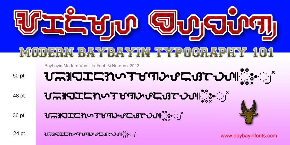 Baybayin Modern Varsitita Font by Nordenx