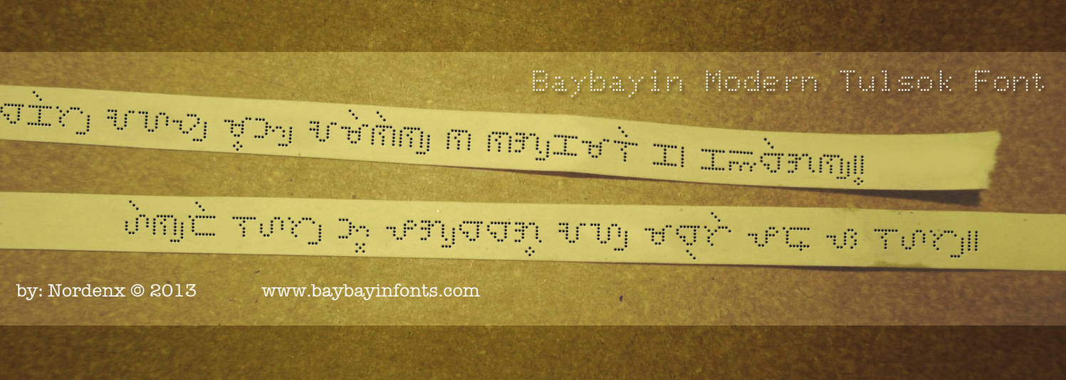 Baybayin Tulsok Font