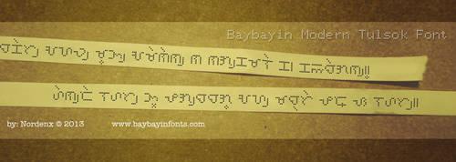 Baybayin Tulsok Font by Nordenx