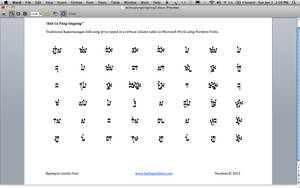Kapampangan Coolits Font