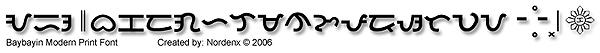 Baybayin Modern Print Font by Nordenx