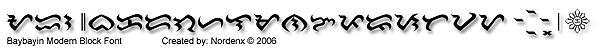 Baybayin Modern Block Font