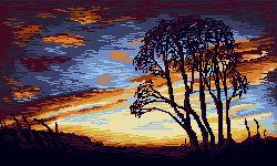 Pixel sunset