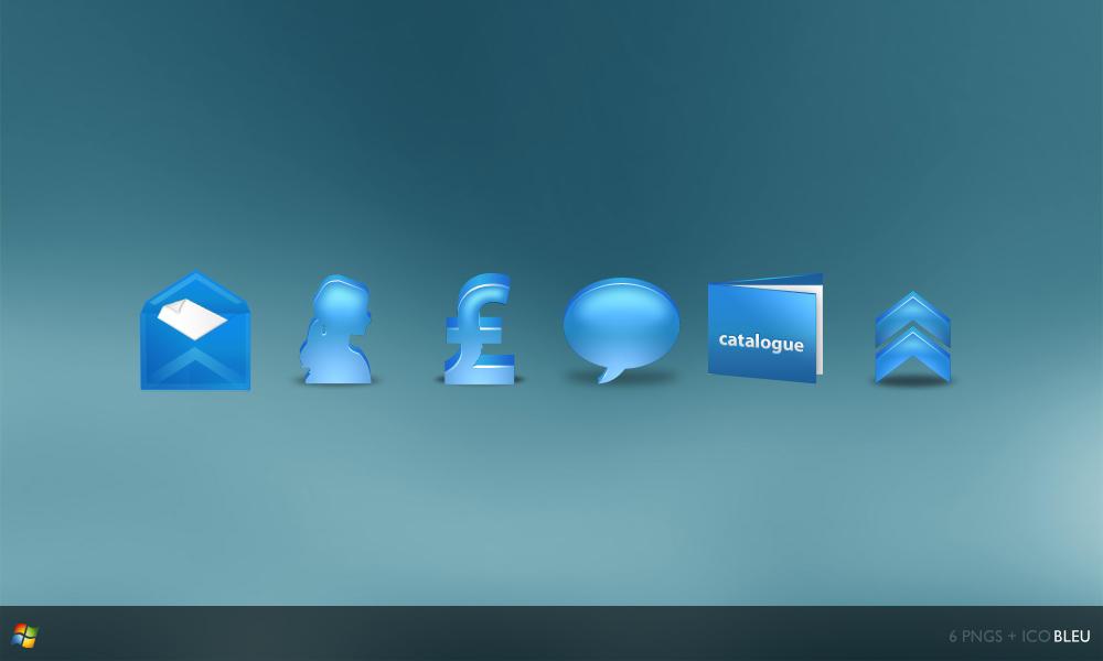 Bleu Icons by gakuseisean