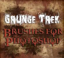 Grunge Trek Brushes for Photoshop by mylochka
