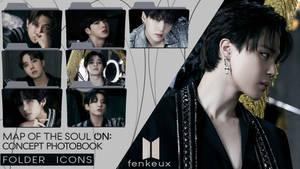 [DARK] BTS Map of the Soul ON-E Folder Icons