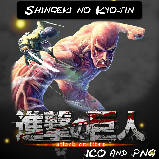 Shingeki no Kyojin V3 ICO And PNG by bryan1213