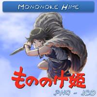 Mononoke Hime ICO, PNG and Folder by bryan1213