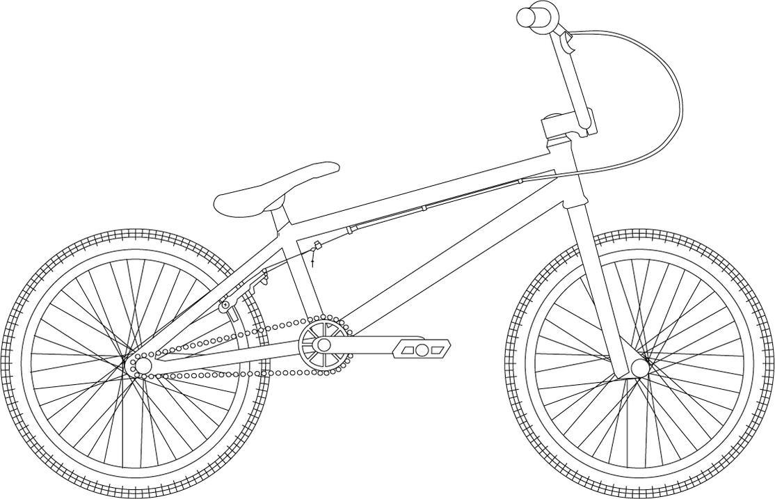 Bmx Bike Drawings