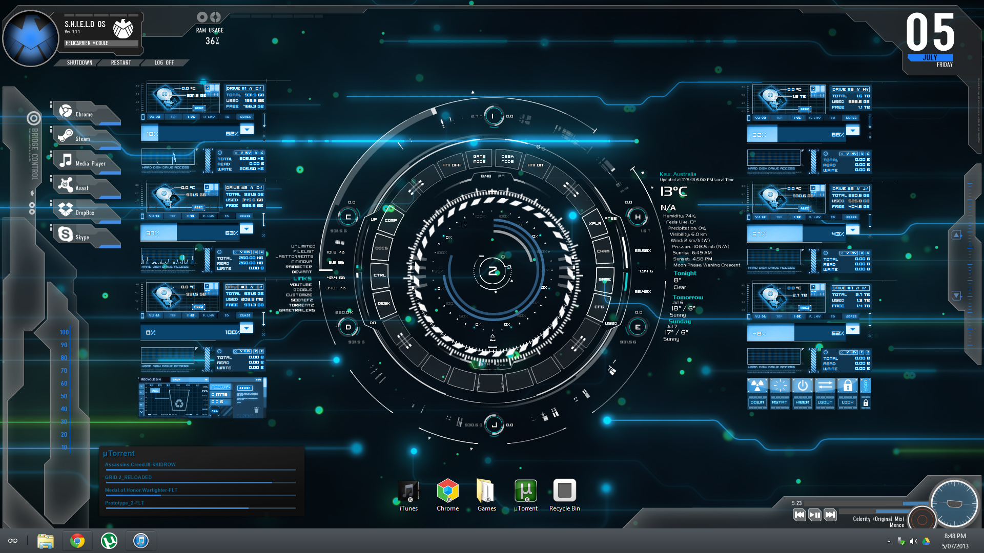 Image Gallery Shield Rainmeter
