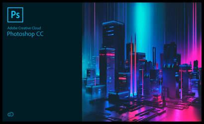 Photoshop 2018 Splash Screen - Synthwave Edition