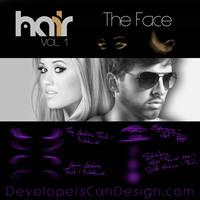 FREE | HIGH RES | Hair Vol.1 | FACE Brushes by RachaelRaie