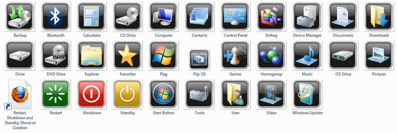 Black Chrome OS Icons