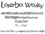loserboi wonky font