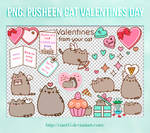 Pack png - Pusheen Cat Valentine's Day [Cian05]