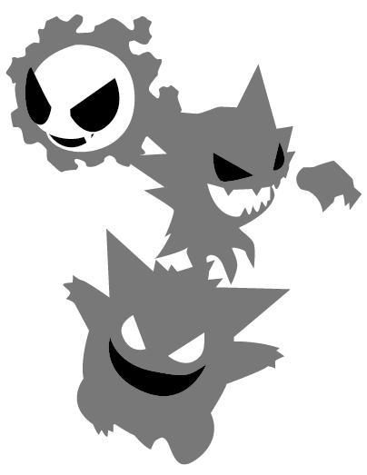 Pokemon gastly evolution pumpkin stencil by frisbii on