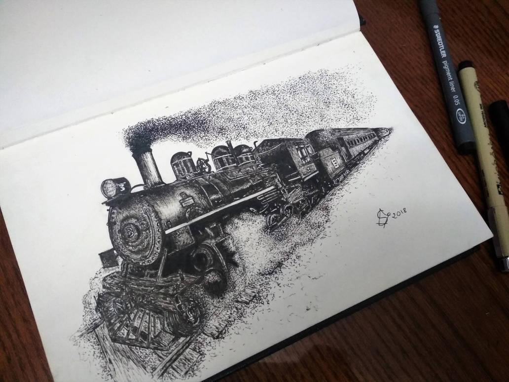 Locomotive - 3d Steam animation - [GIF]