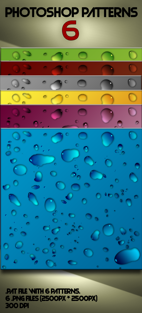 Water Drop Photoshop Patterns by jqsdigital on DeviantArt