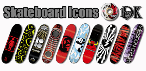 Skateboard Dock Icons by Daniel-Keen