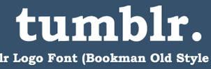 tumblr logo font download