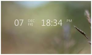 Line Clock By Feedanza