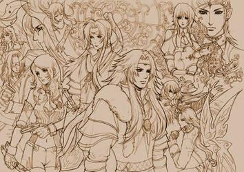 Saga Frontier - various chara.