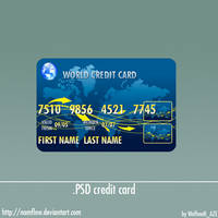 .PSD credit card by NamfloW