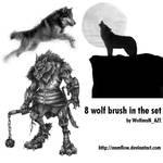 Wolf brush set