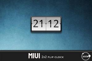 uccw - miui flip clock 2x2 by zipalign