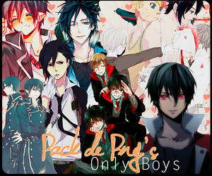 Pack PNG -Anime boys.