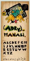 Type face: Adry of Hanabi