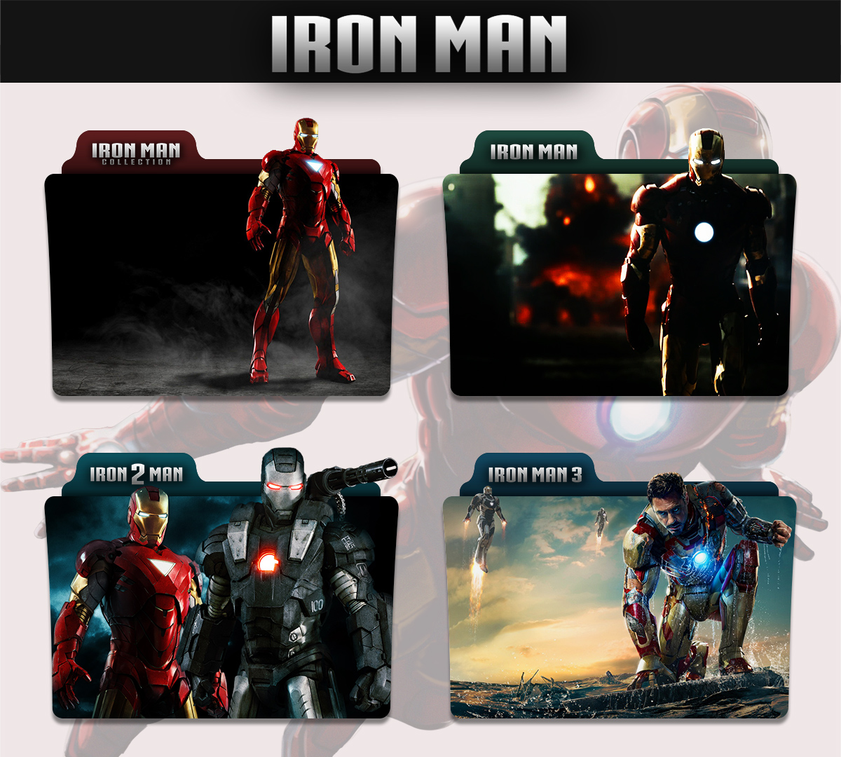 Iron Man Collection 2008 - 2013 Folder Icon by sonerbyzt on DeviantArt