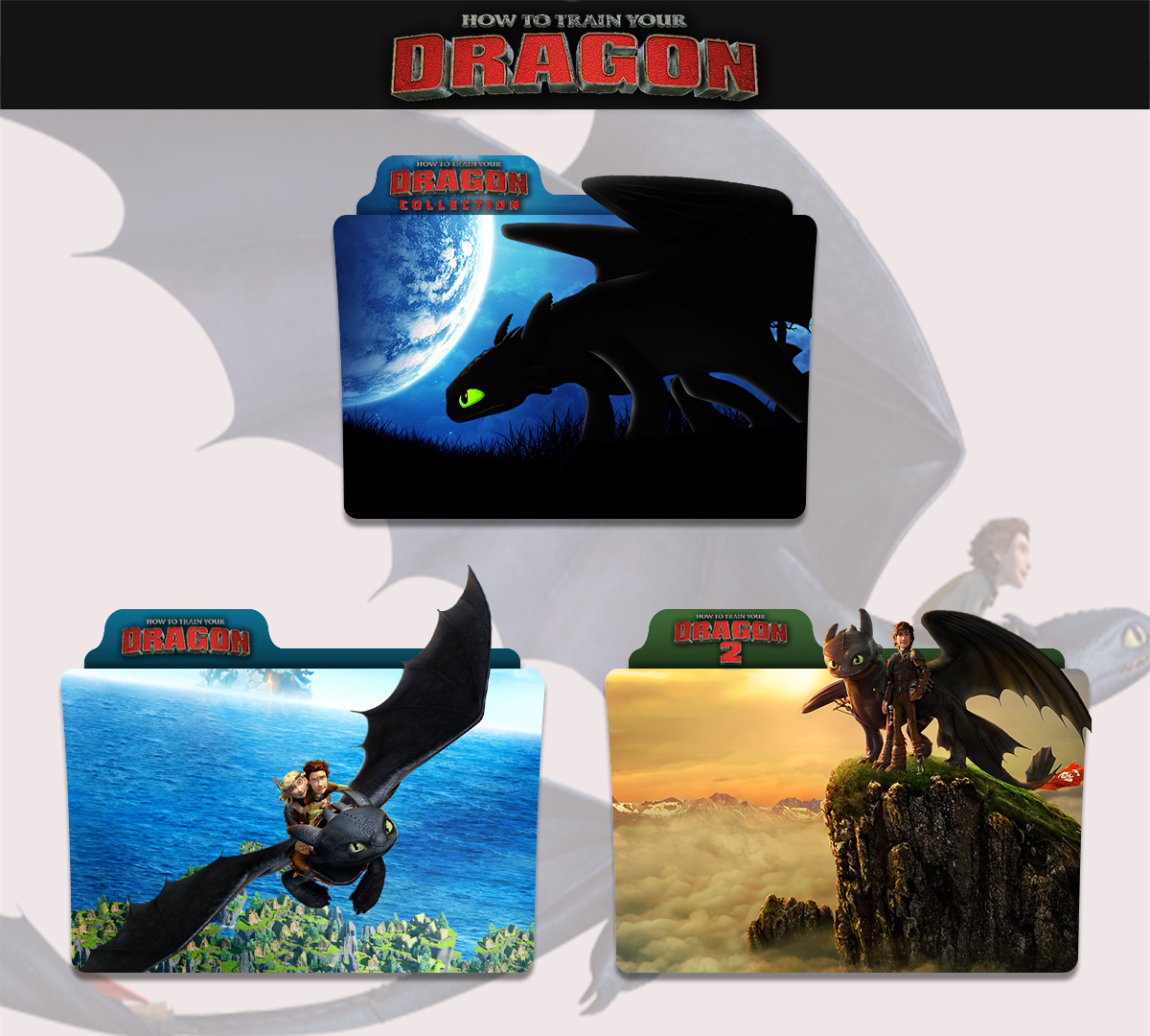 How To Train Your Dragon 2010 2014 Folder Icon By Sonerbyzt On Deviantart