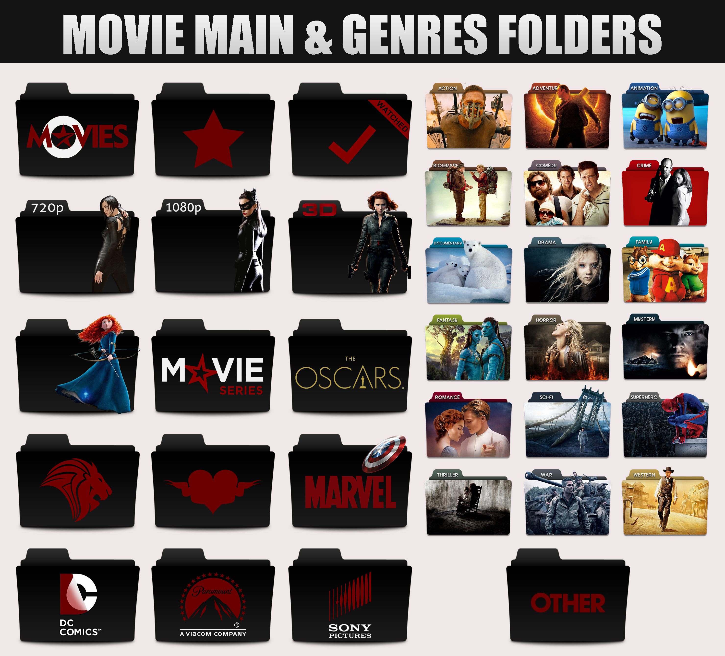 Movie Genres Folders By Sonerbyzt Movie Genres Folders By Sonerbyzt