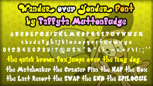 Wander Over Yonder Font by EclipsaButterfly
