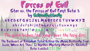 Forces of Evil (Star vs. the Forces of Evil Font)