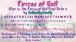 Forces of Evil (Star vs. the Forces of Evil Font)