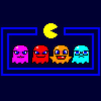 Pac-Man Ghosts (inspired by minus8)