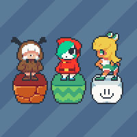 Super Mario Villains (inspired by minus8)