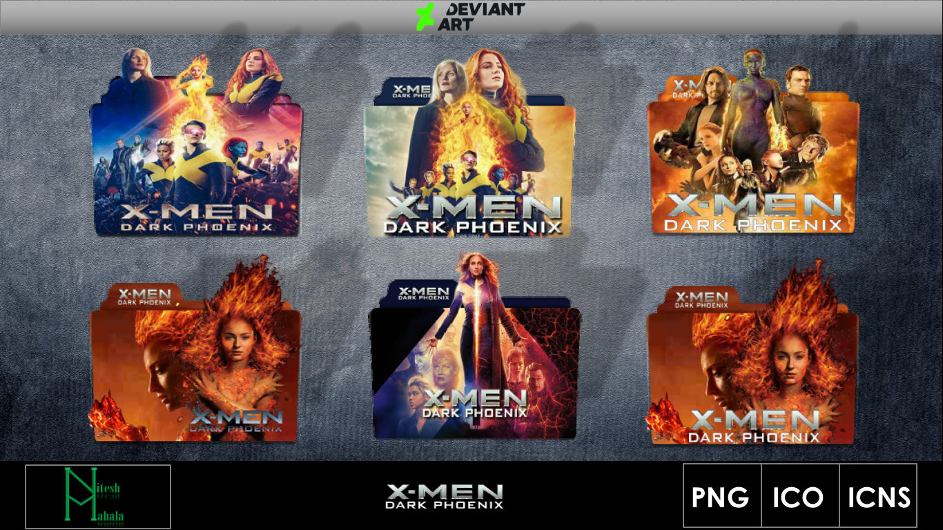 X Men Dark Phoenix 2019 Movie Folder Icons By Niteshmahala On Deviantart