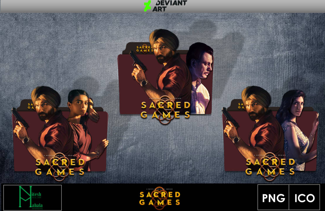Sacred Games (2018) Series Folder Icons by niteshmahala on