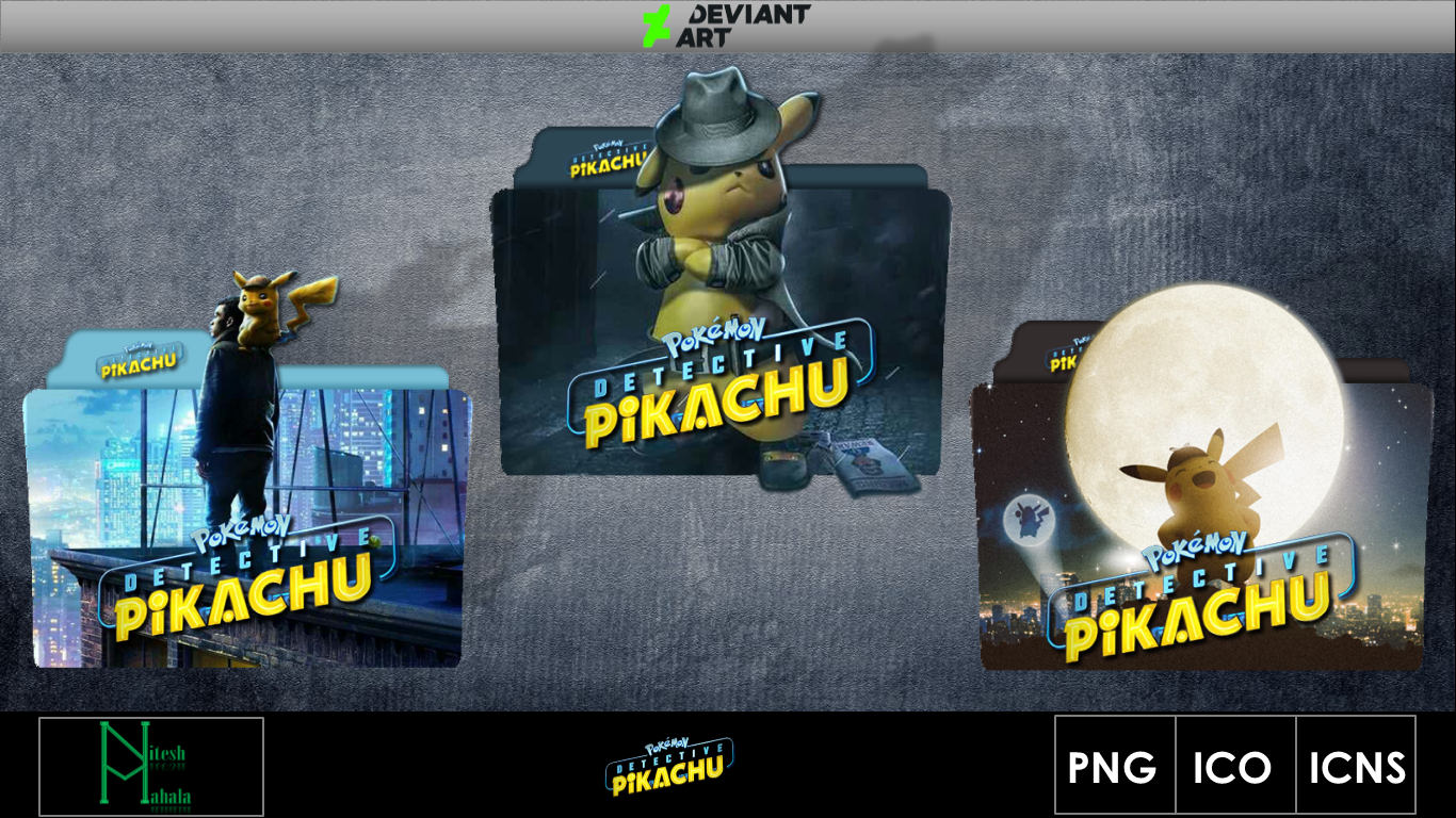 Pokemon Detective Pikachu 2019 Movie Folder Icon By Niteshmahala On Deviantart