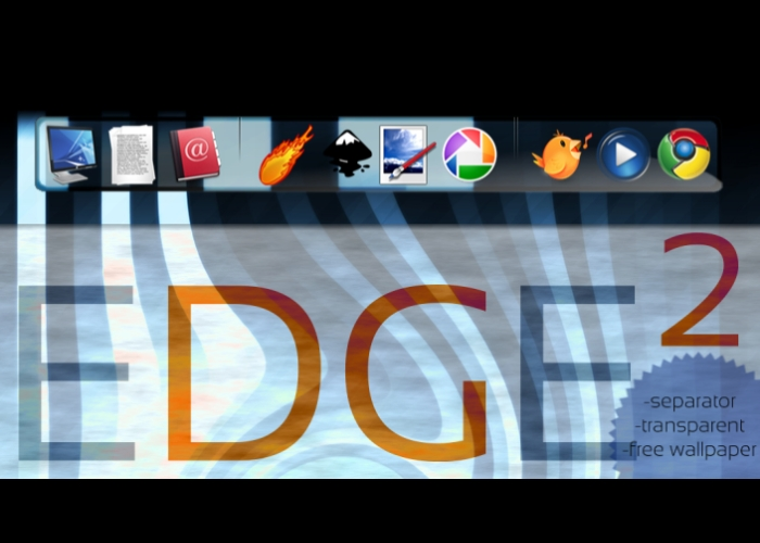 EDGE Squared Rocketdock Theme