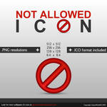 Not Allowed Icon Set