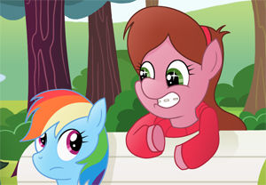 Mabel Pines and Rainbow Dash
