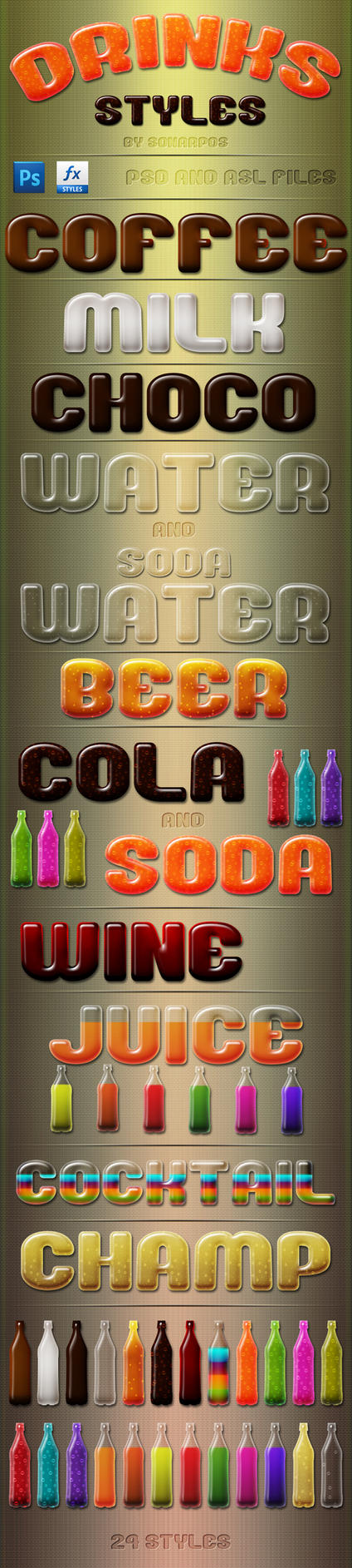 drinks styles by sonarpos